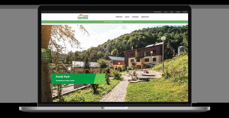 Web stránka Poráč parku