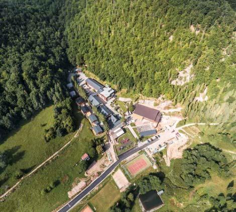 Záber z vtáčej perspektívy na Poráč park